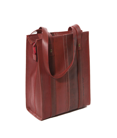 Dutch Red Fire-Hose Silk Tote