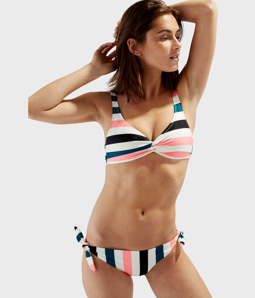 Two-piece Black Jade Coral Stripe Swimsuit The Jane