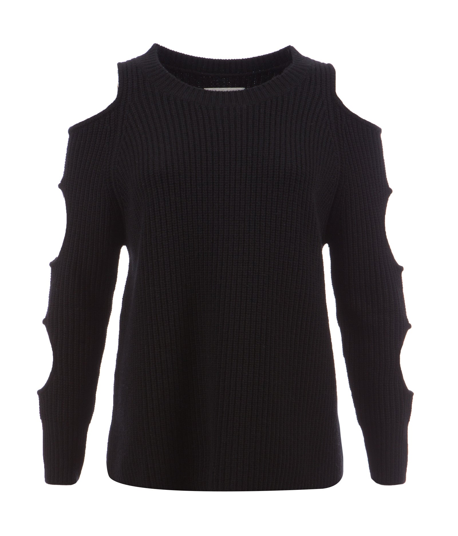 Black Ribbed Cashmere blend women