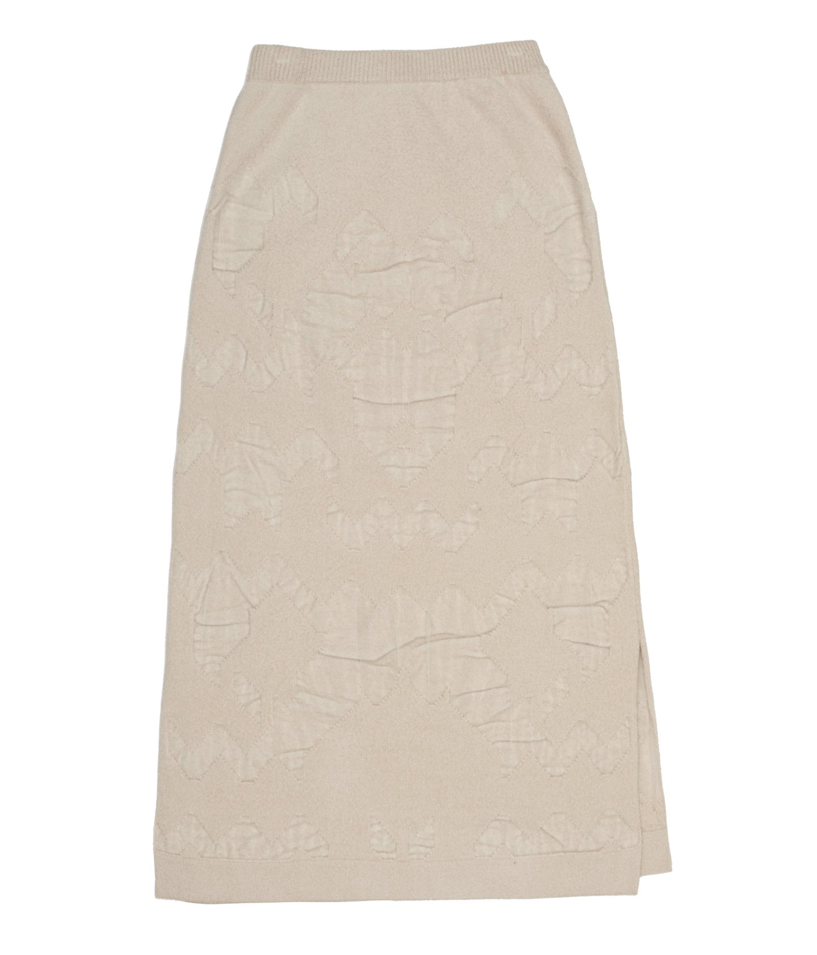 Cream Midi Pencil Skirt