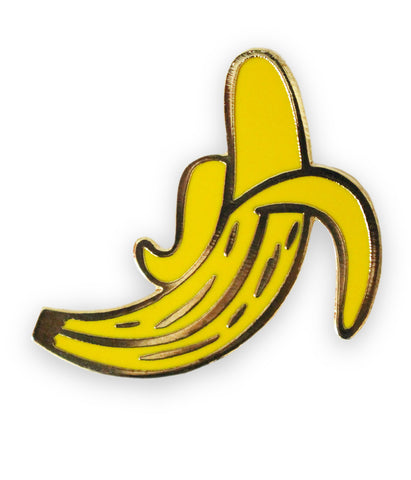Banana Gold Plated Lapel Pin
