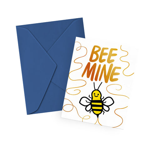Bee Mine Gold Foil Card