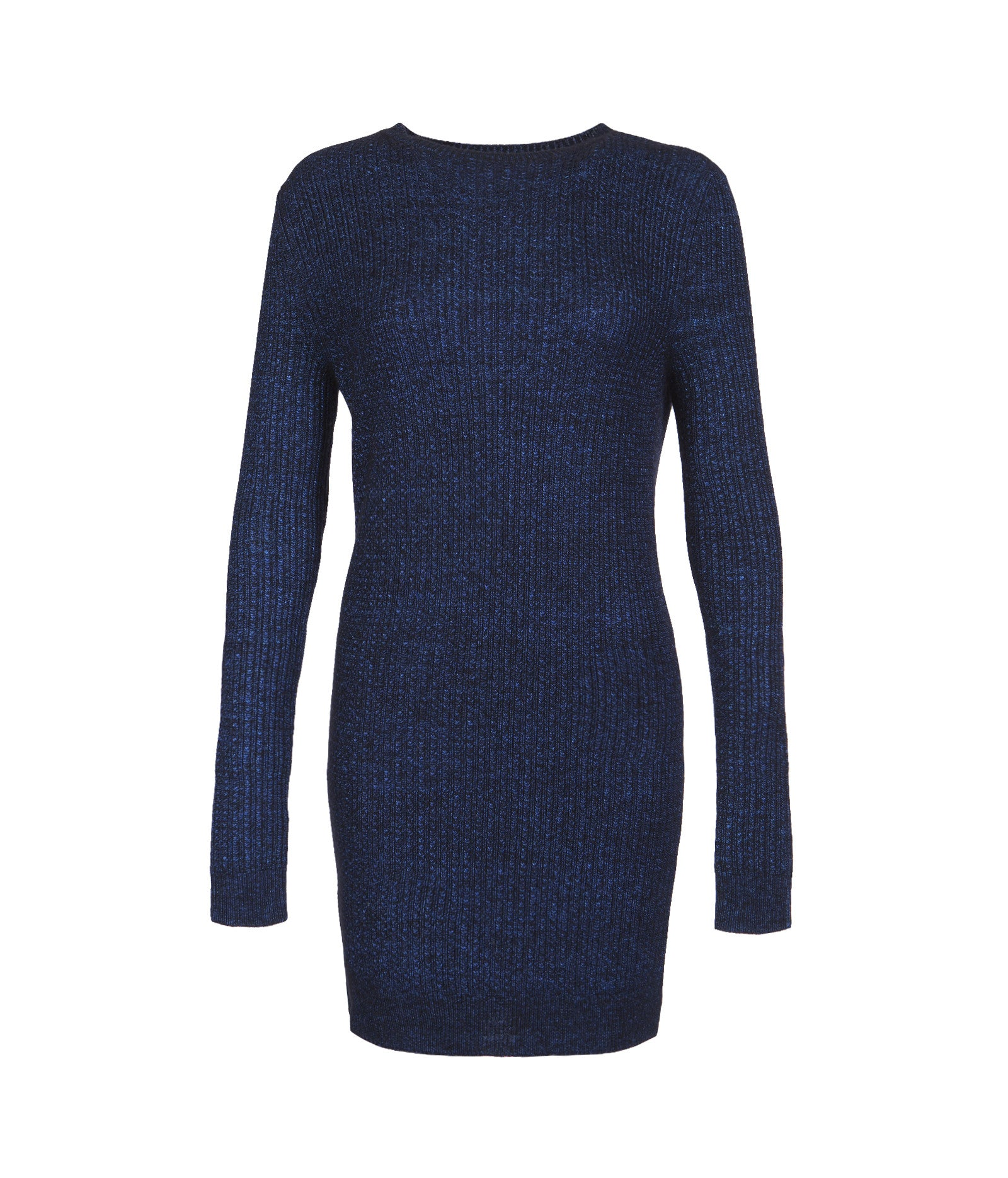 Milo Cable Wool Jumper Dress in Blue