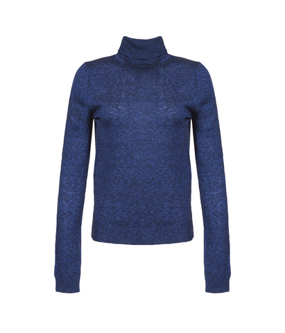 Viscose & Wool Blue Women's Turtleneck 'Pepe'