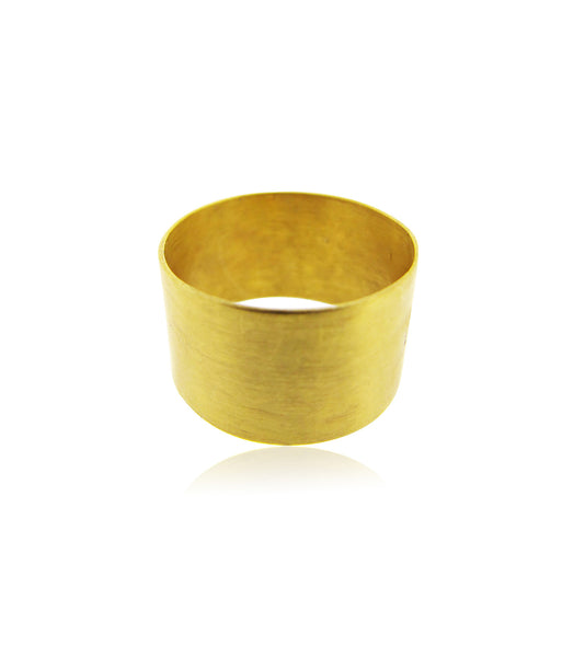 Brushed Gold Band Ring