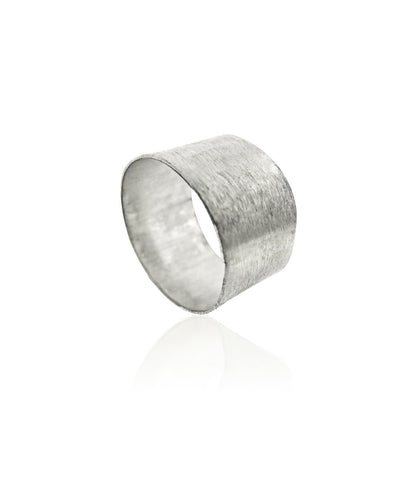 Brushed Silver Band Ring
