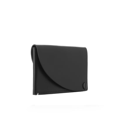 Black Italian Leather Card Holder