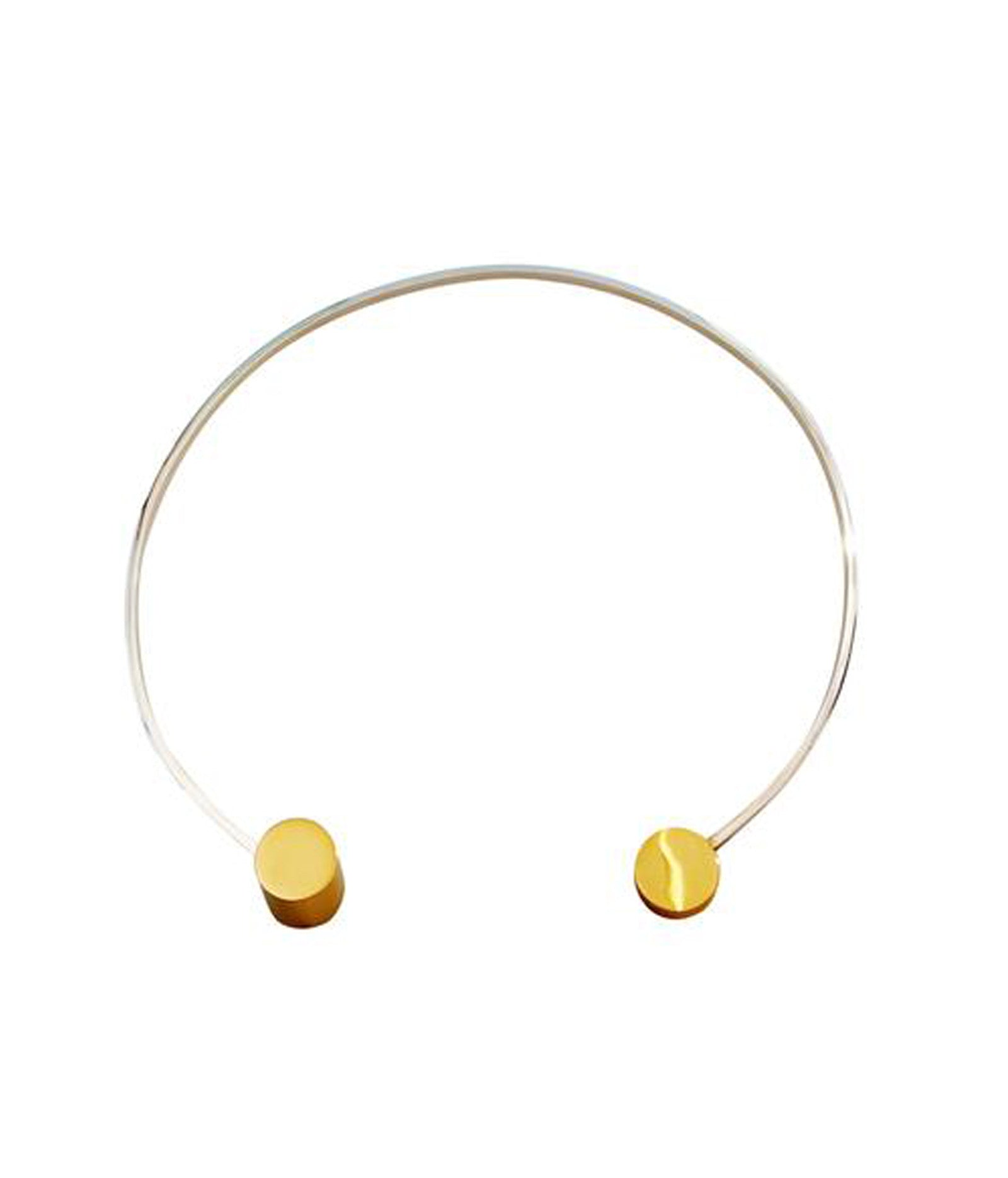 Gold Plated Disc Sterling Silver Choker