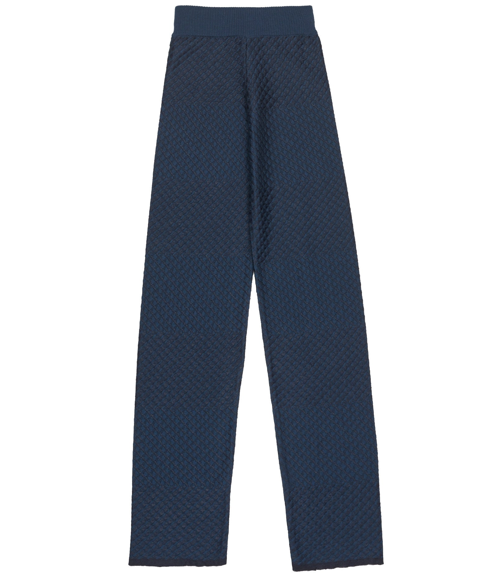 Striped Merino Navy Trousers