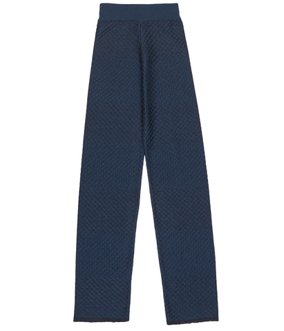 Striped Merino Navy Trousers 'Edel'