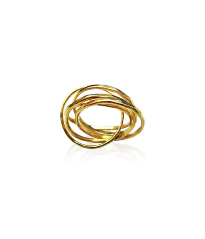 Five Strand Gold Russian Ring