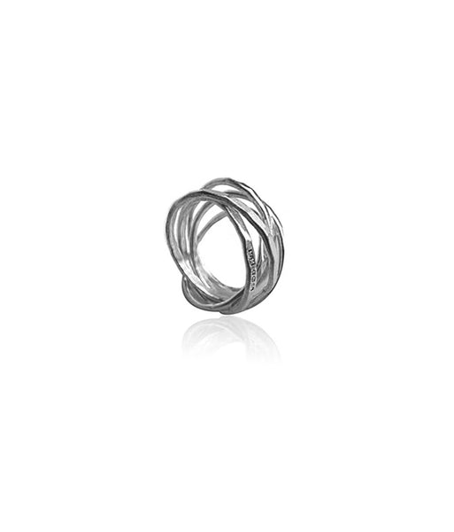 Five Strand Silver Russian Ring