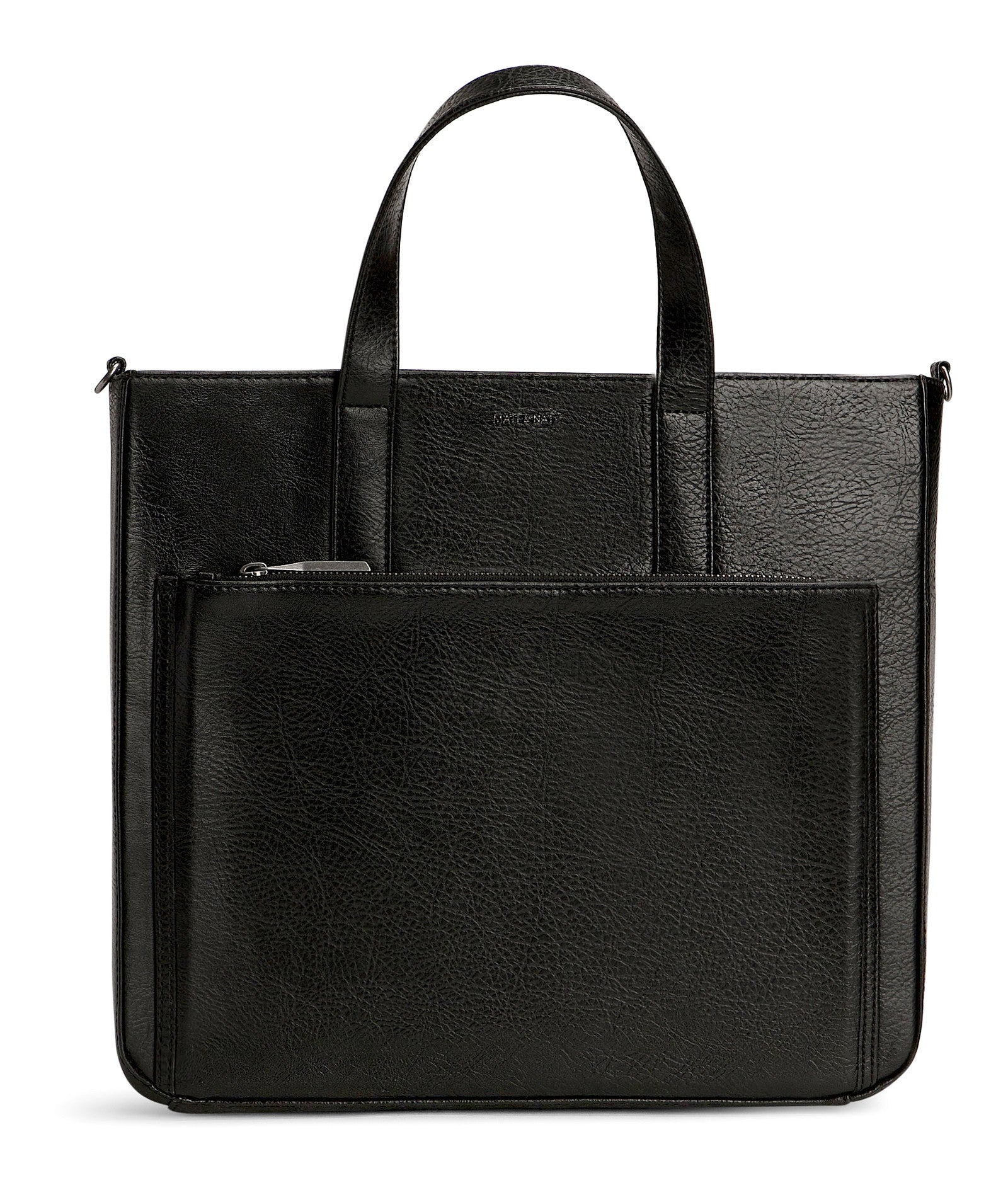 Black Vegan Leather Briefcase