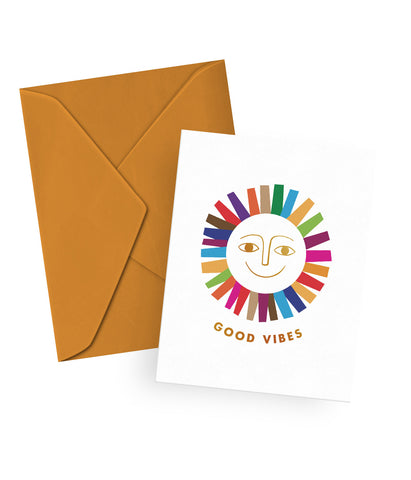 Good Vibes Gold Foil Card