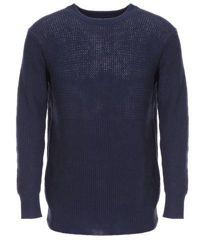 Blue Cotton Knit Jumper