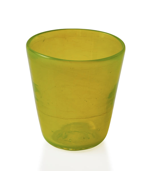 Glassblown Lime Glass Cup
