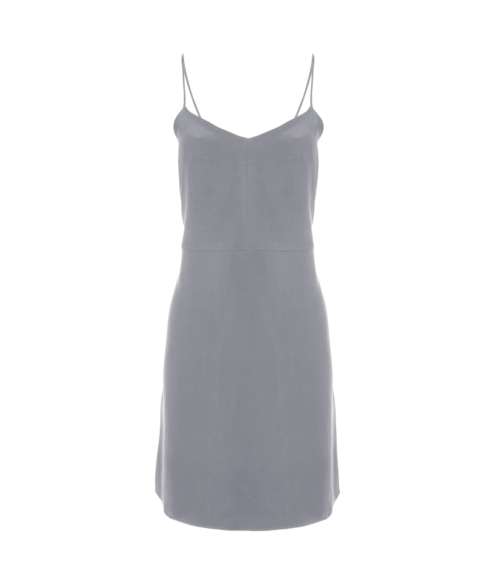 Beanie Silk Slip Dress in Grey