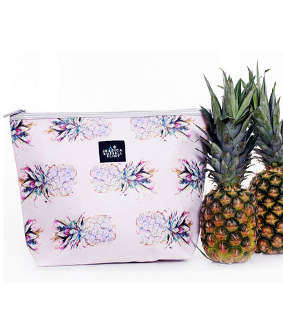 Pineapple Cliche Leather Washbag