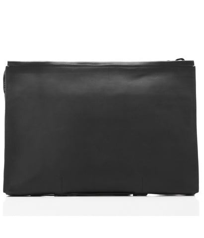 Black Italian Leather Portfolio Case