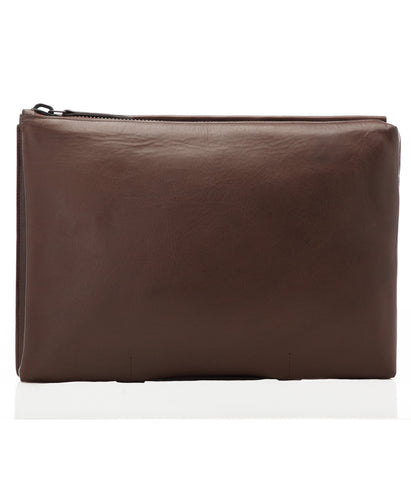 Brown Italian Leather Portfolio Case