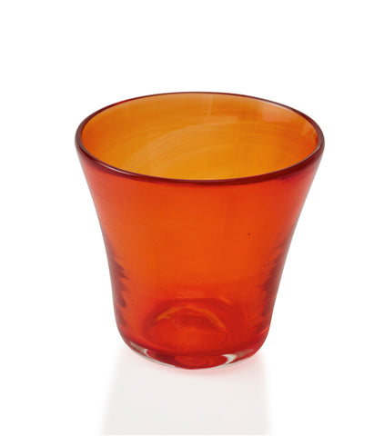 Glassblown Red Glass Cup