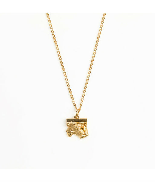 Rock Pendant Gold Plated Neckalce
