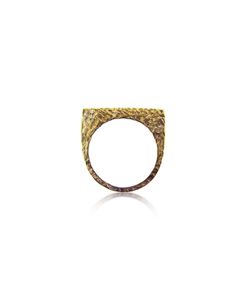 Textured Single Gold Ring