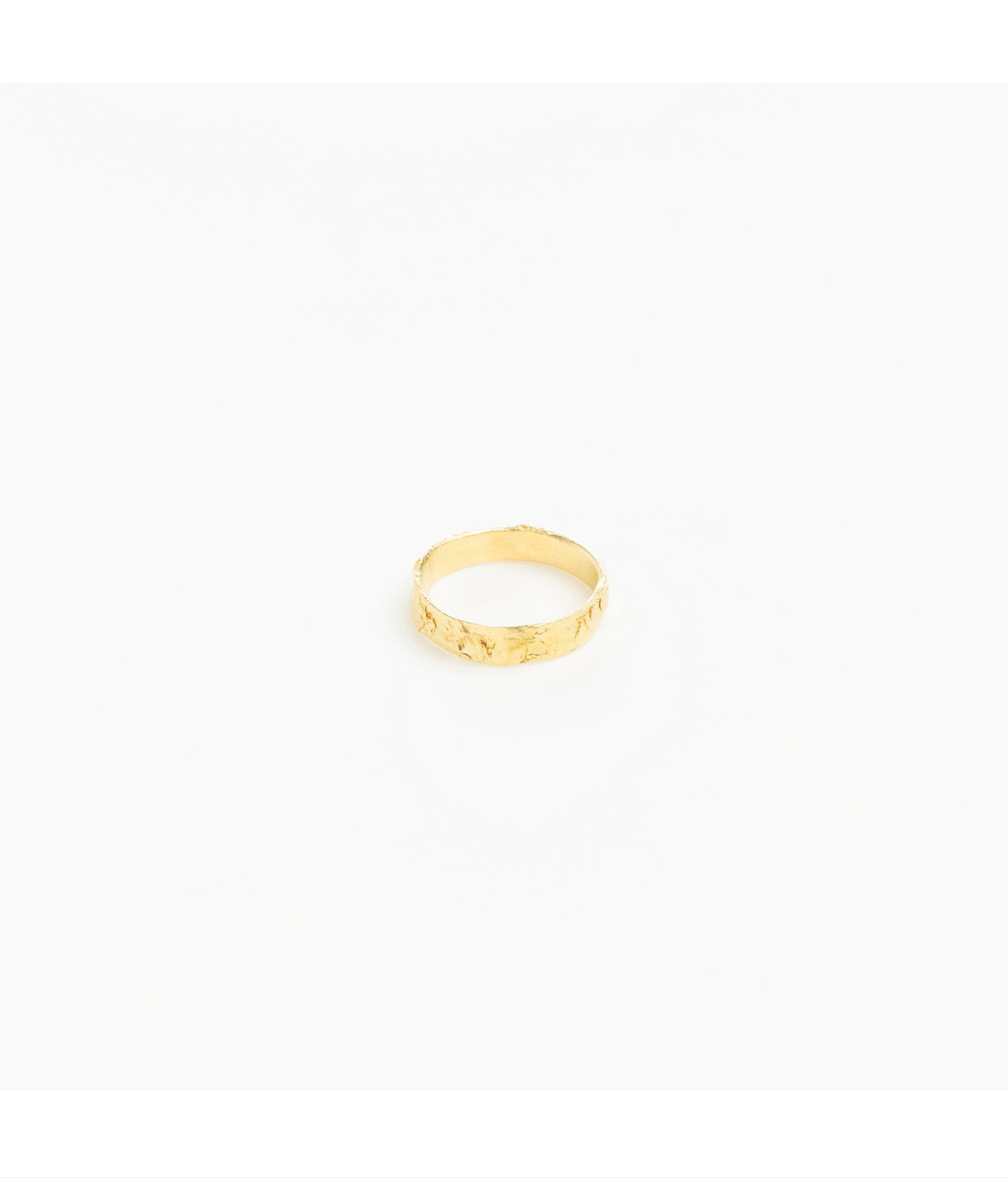 Slim Gold Plated Wave Band Ring
