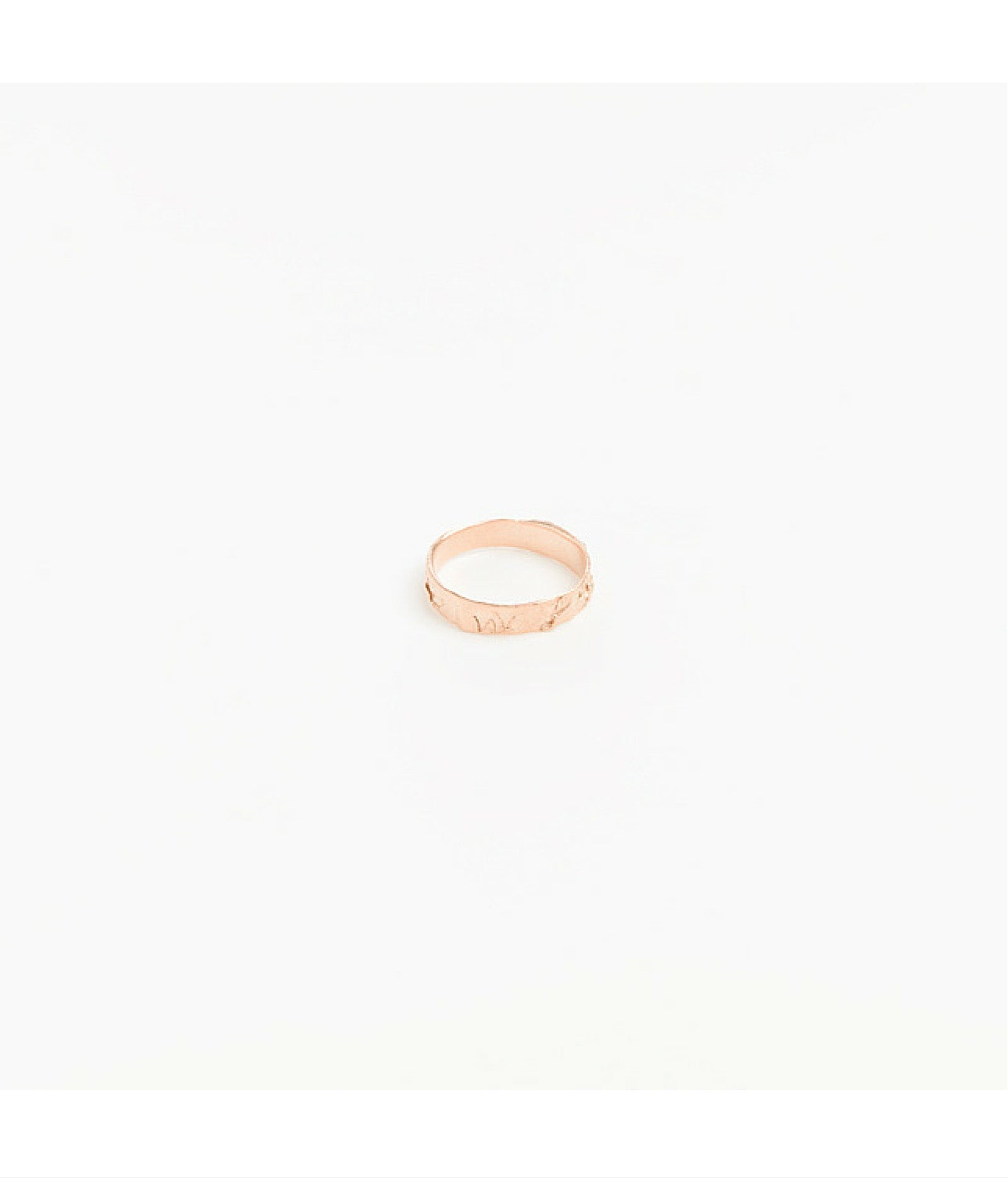 Slim Rose Gold Plated Wave Band Ring