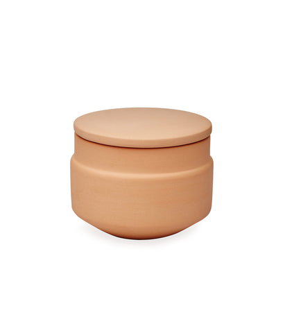 Ceramic Terracotta Orange Suger Pot with Lid