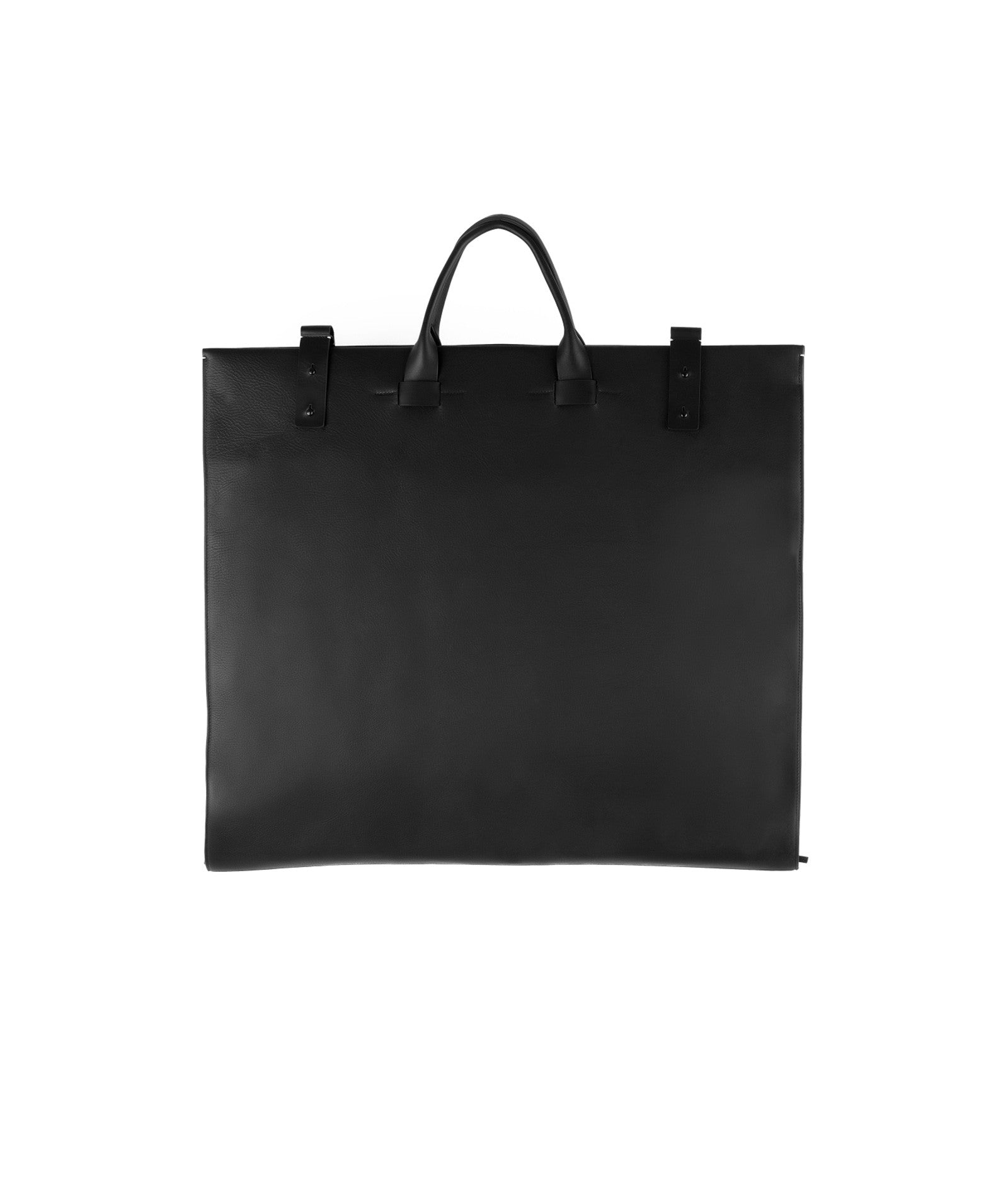 Italian Leather and Suede Black Suit Carrier