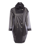 T1 Ash Black Raincoat