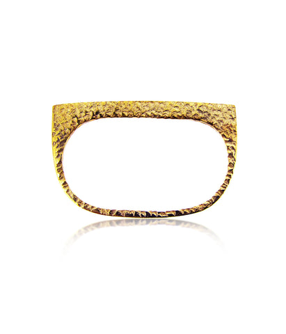 Textured Double Gold Ring