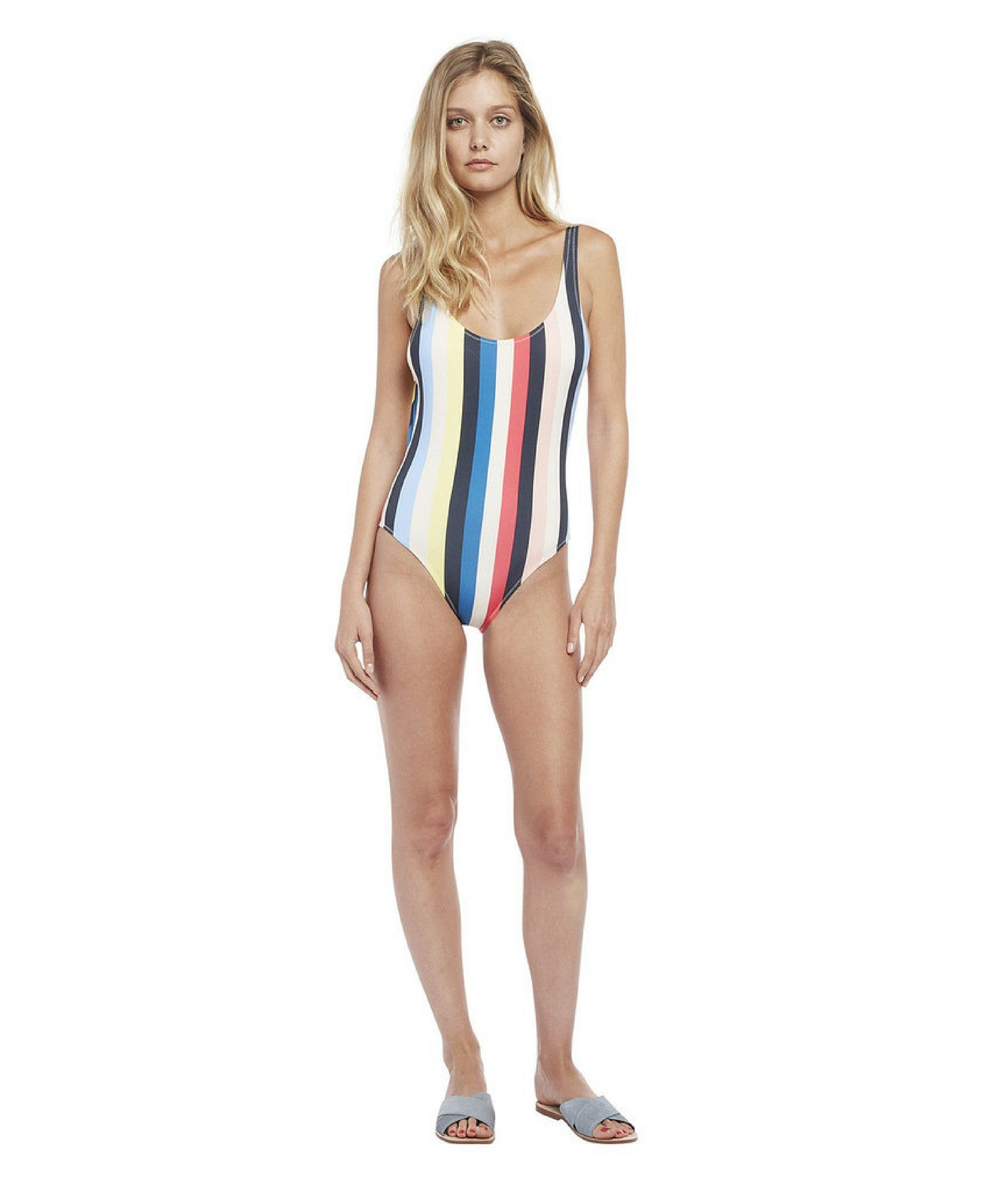 One-Piece Multicolour Stripe Swimsuit The Anne-Marie