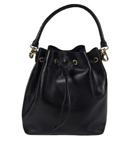 Eco Vintage Black Leather Bag