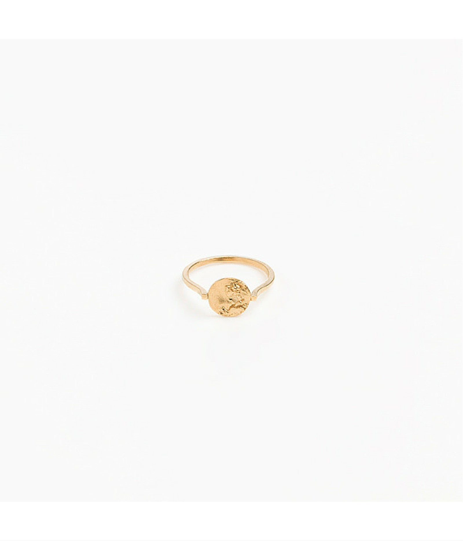 Tide Gold Plated Signet Ring