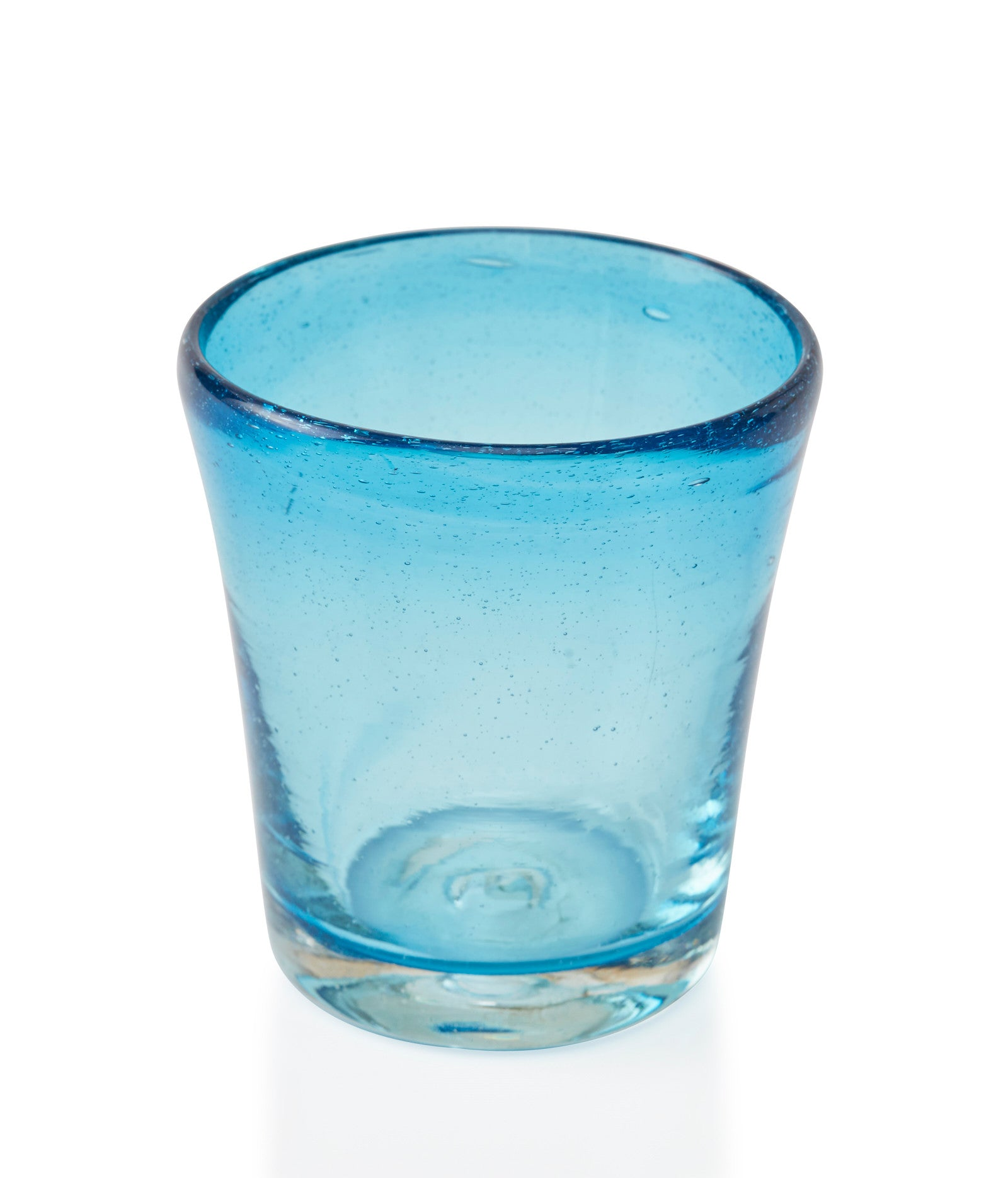 Glassblown Turquoise Glass Cup