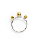 Track Ball Gold Plated Ring