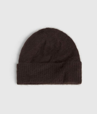 Angora Brown Women's Beanie 'Vicky'