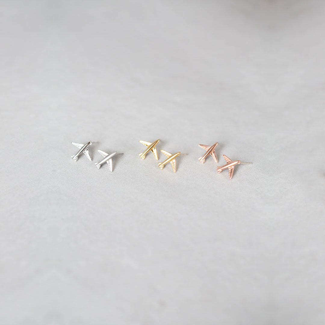 Airplane Earrings by Lovoda