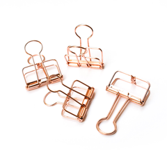 Bold Tuesday Copper Binder Clips 4-pack
