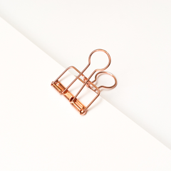 Bold Tuesday Copper Binder Clips Single