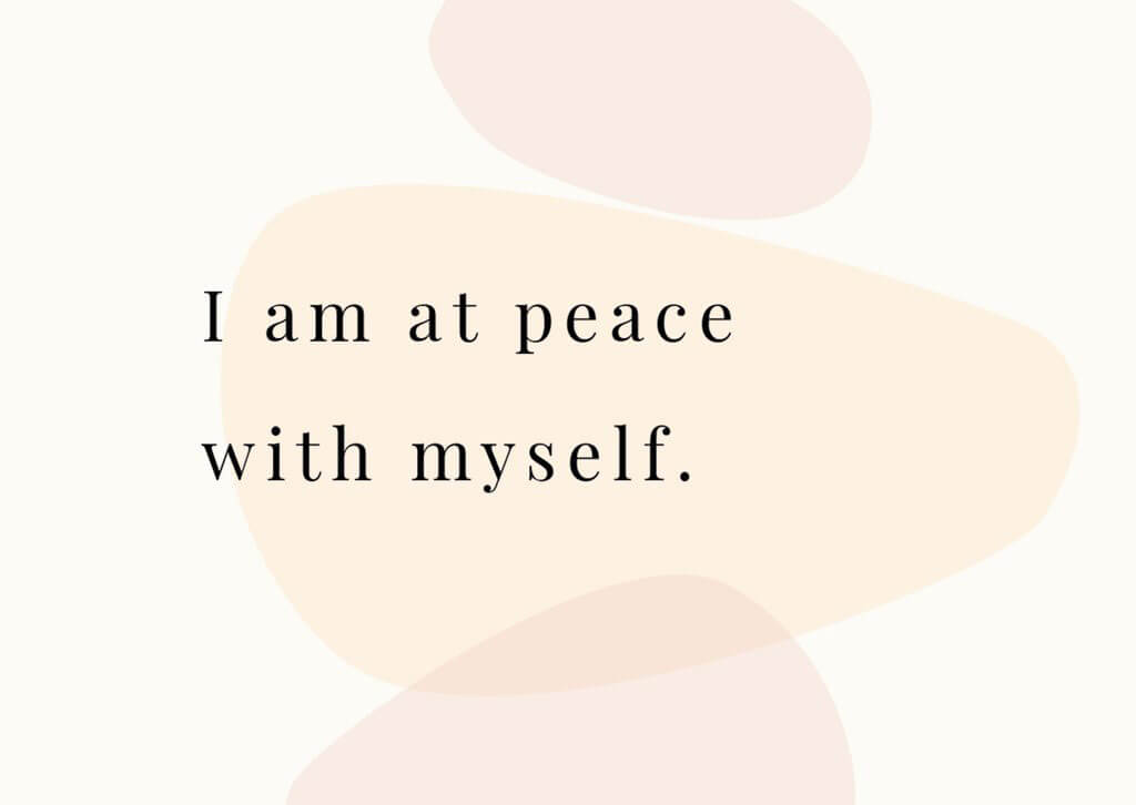 Balance affirmation cards - I am at peace with myself