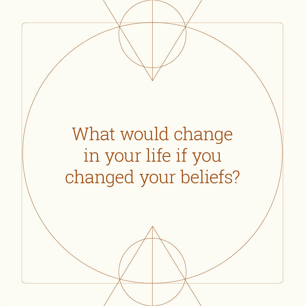 Powerful questions - affirmation cards - what would change if you changed your beliefs?