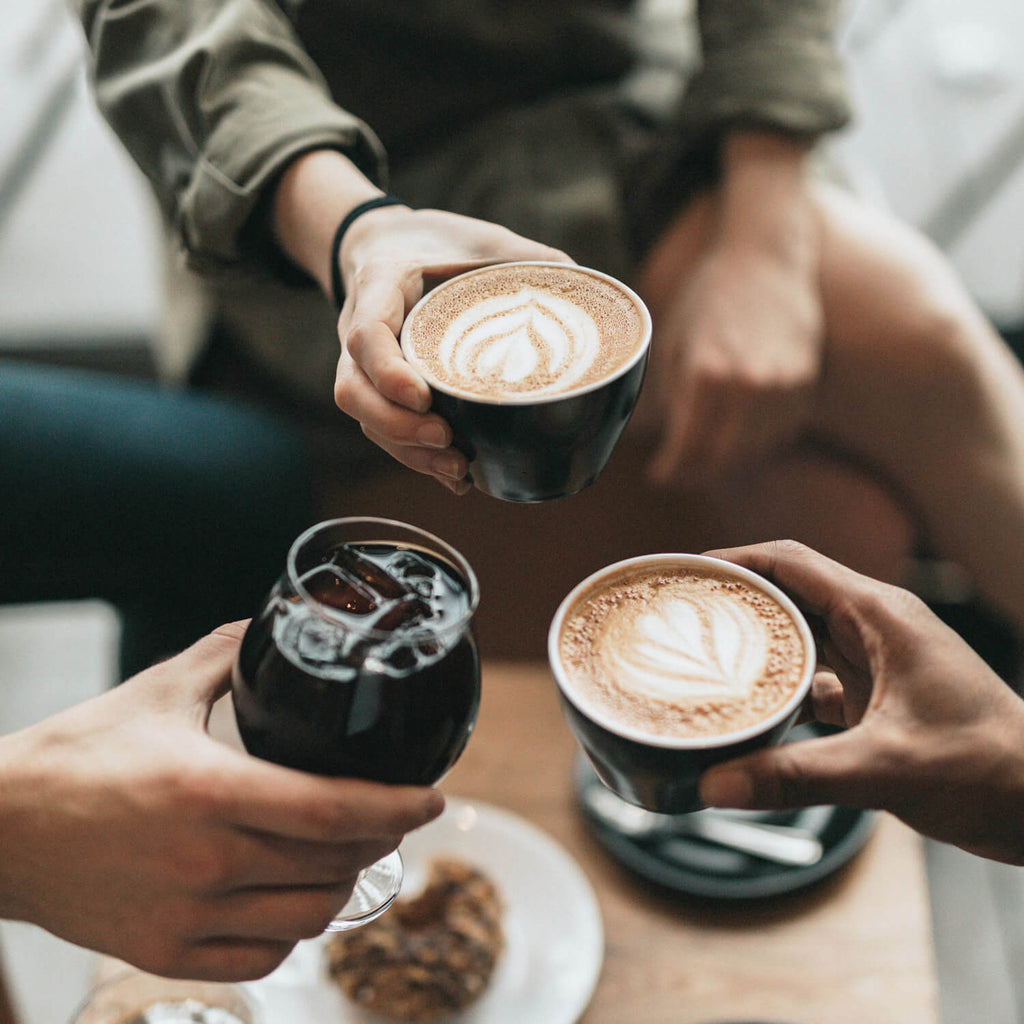 Connecting with friends over coffee