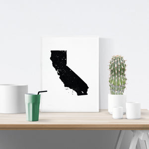 California State Art Print - Minimal interior