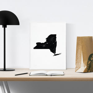 New York State Art Print - Minimal interior