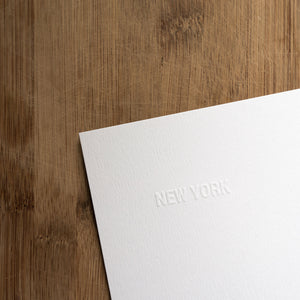 New York State Art Print - Embossed Letters Paper