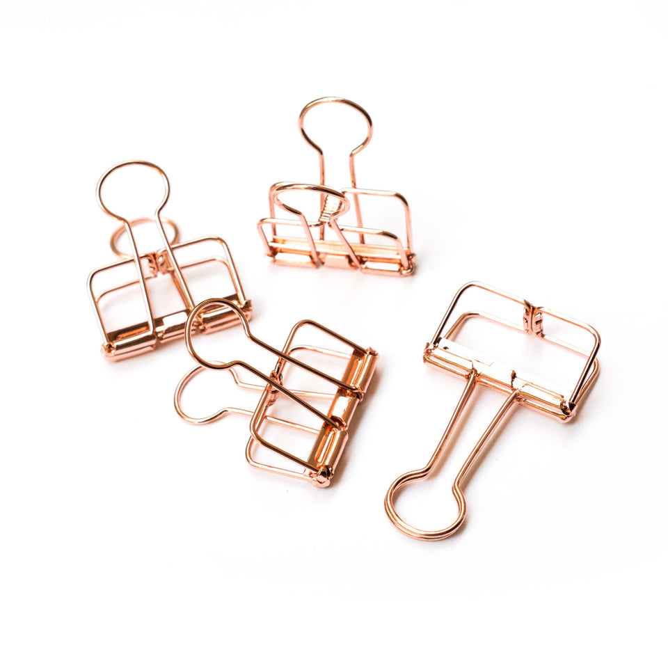 Copper Binder Clips - Rose Gold - Poster Clips