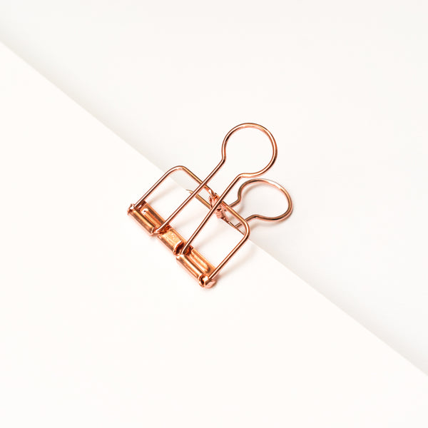 Copper Binder Clip - Rose Gold - Poster Clip